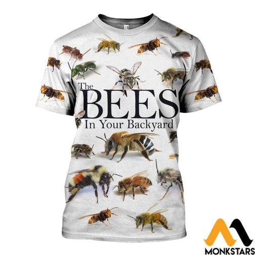 3D All Over Printed Bees In Your Backyard Shirts And Shorts T-Shirt / Xs Clothes