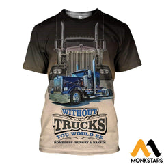 3D All Over Printed Big Truck Clothes T-Shirt / Xs