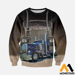 3D All Over Printed Big Truck - Semi Clothes Long-Sleeved Shirt / Xs