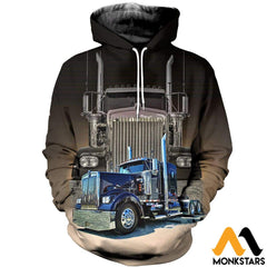 3D All Over Printed Big Truck - Semi Clothes Normal Hoodie / Xs
