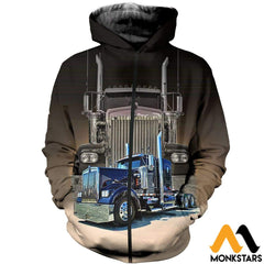 3D All Over Printed Big Truck - Semi Clothes Zipped Hoodie / Xs