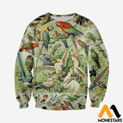 3D All Over Printed Bird Collection Shirts And Shorts Long-Sleeved Shirt / Xs Clothes