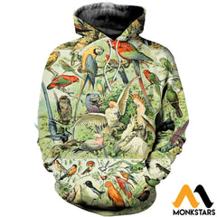 3D All Over Printed Bird Collection Shirts And Shorts Normal Hoodie / Xs Clothes