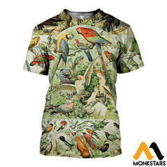 3D All Over Printed Bird Collection Shirts And Shorts T-Shirt / Xs Clothes
