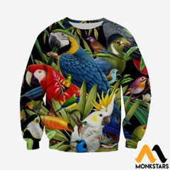 3D All Over Printed Birds Clothes Long-Sleeved Shirt / Xs