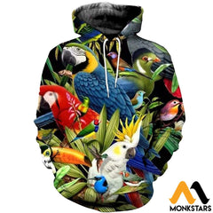 3D All Over Printed Birds Clothes Normal Hoodie / Xs