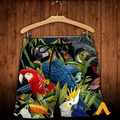 3D All Over Printed Birds Clothes Shorts / Xs