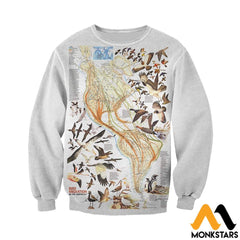 3D All Over Printed Birds Shirts And Shorts Long-Sleeved Shirt / Xs Clothes