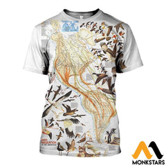 3D All Over Printed Birds Shirts And Shorts T-Shirt / Xs Clothes