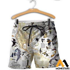3D All Over Printed Birds Shirts And Shorts / Xs Clothes