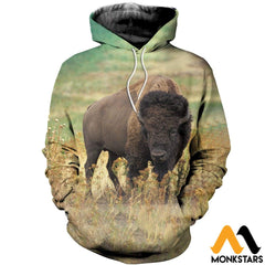 3D All Over Printed Bison T-Shirt Hoodie Scak160406 Normal / Xs Clothes