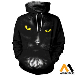 3D All Over Printed Black Cat T-Shirt Hoodie Saul170407 Normal / Xs Clothes
