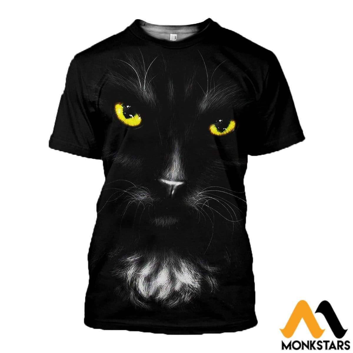 3D All Over Printed Black Cat T-Shirt Hoodie Saul170407 / Xs Clothes