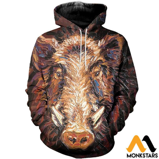 3D All Over Printed Boar Shirts And Shorts Normal Hoodie / Xs Clothes
