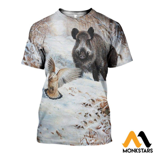 3D All Over Printed Boar Shirts And Shorts T-Shirt / Xs Clothes