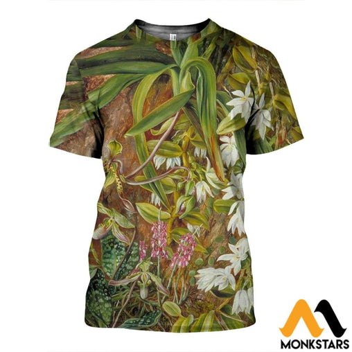 3D All Over Printed Bornean Orchids Shirts And Shorts T-Shirt / Xs Clothes