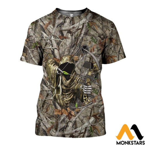 3D All Over Printed Bowhunting Camo Shirts And Shorts T-Shirt / Xs Clothes