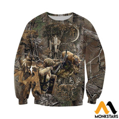 3D All Over Printed Bowhunting Deer Shirts And Shorts Long-Sleeved Shirt / Xs Clothes