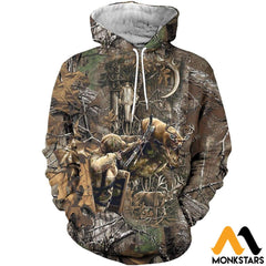 3D All Over Printed Bowhunting Deer Shirts And Shorts Normal Hoodie / Xs Clothes