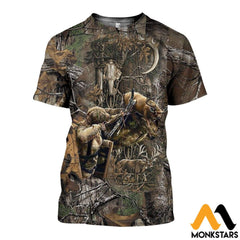 3D All Over Printed Bowhunting Deer Shirts And Shorts T-Shirt / Xs Clothes