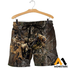 3D All Over Printed Bowhunting Deer Shirts And Shorts / Xs Clothes