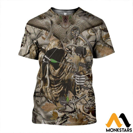 8cc34577d31b0 3D All Over Printed Bowl Hunting Camo Shirts And Shorts T-Shirt / Xs Clothes