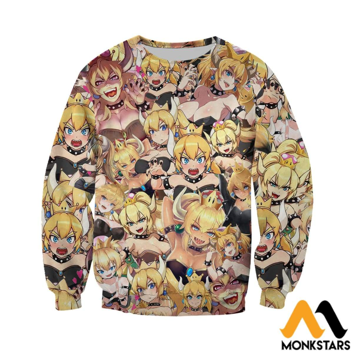 7d688a83c5e7 3D All Over Printed Bowsette Halloween Girl 2 Shirts And Shorts ...