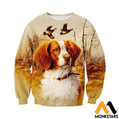 3D All Over Printed Brittany Spaniel Hunting Shirts And Shorts Long-Sleeved Shirt / Xs Clothes