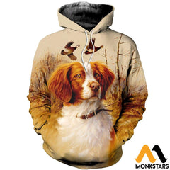 3D All Over Printed Brittany Spaniel Hunting Shirts And Shorts Normal Hoodie / Xs Clothes