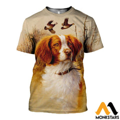 3D All Over Printed Brittany Spaniel Hunting Shirts And Shorts T-Shirt / Xs Clothes
