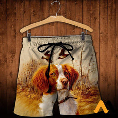 3D All Over Printed Brittany Spaniel Hunting Shirts And Shorts / Xs Clothes