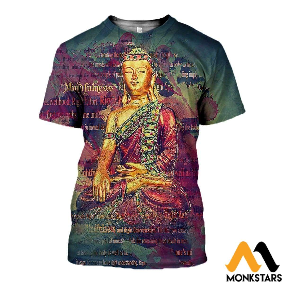3D All Over Printed Buddha T-Shirt Hoodie Sctl060403 / Xs Clothes