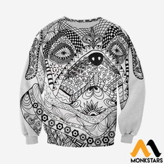 3D All Over Printed Bull Dog Mandala Shirts And Shorts Long-Sleeved Shirt / Xs Clothes