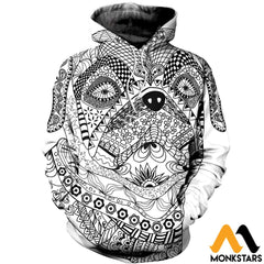 3D All Over Printed Bull Dog Mandala Shirts And Shorts Normal Hoodie / Xs Clothes