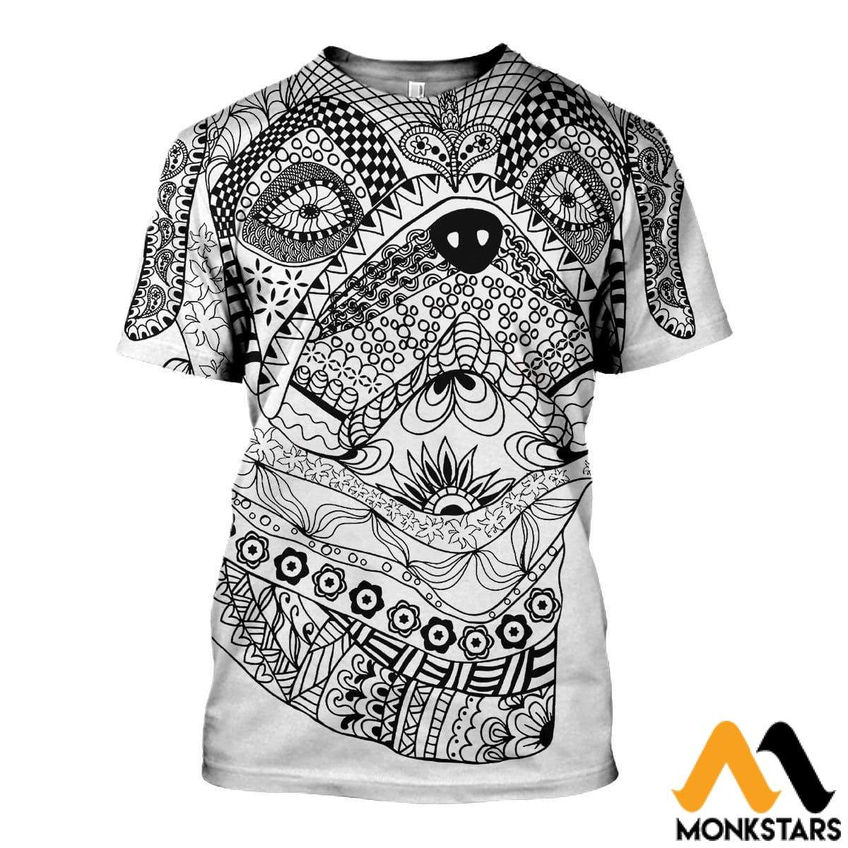 3D All Over Printed Bull Dog Mandala Shirts And Shorts T-Shirt / Xs Clothes