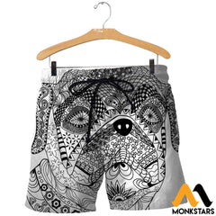 3D All Over Printed Bull Dog Mandala Shirts And Shorts / Xs Clothes