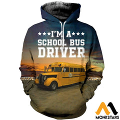 3D All Over Printed Bus Driver T-Shirt Hoodie Adul190425 Normal / Xs Clothes