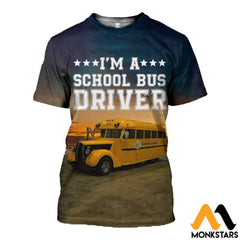 3D All Over Printed Bus Driver T-Shirt Hoodie Adul190425 / Xs Clothes