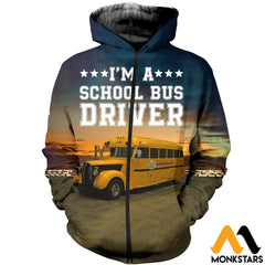 3D All Over Printed Bus Driver T-Shirt Hoodie Adul190425 Zipped / Xs Clothes