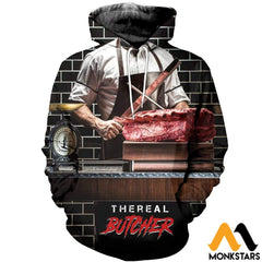 3D All Over Printed Butcher T-Shirt Hoodie Satk020508 Normal / Xs Clothes