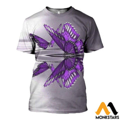 3D All Over Printed Butterflies T-Shirt Hoodie Adul090407 / Xs Clothes