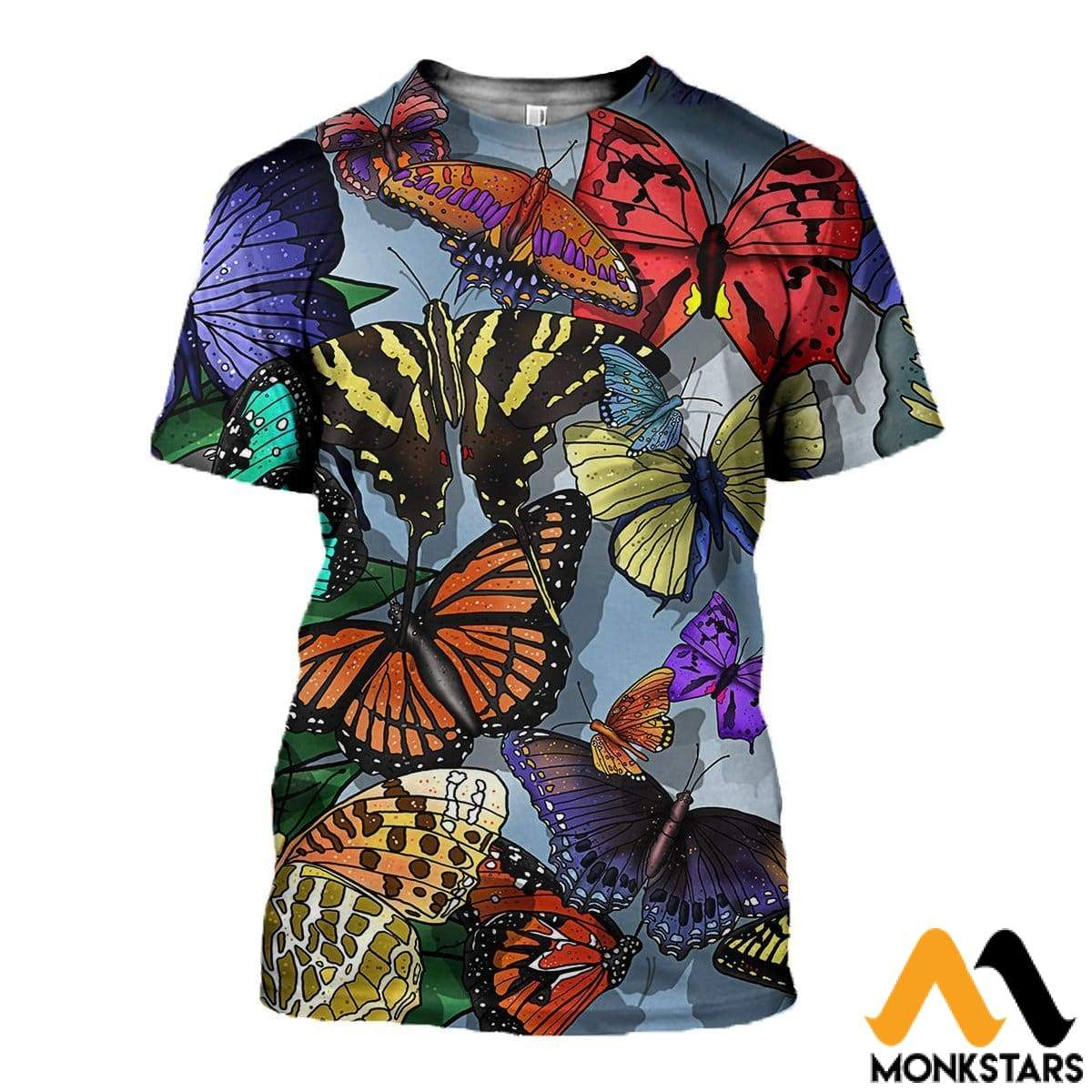 3D All Over Printed Butterflies T-Shirt Hoodie Sctl100404 / Xs Clothes