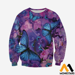 3D All Over Printed Butterflies Tops Long-Sleeved Shirt / Xs Clothes