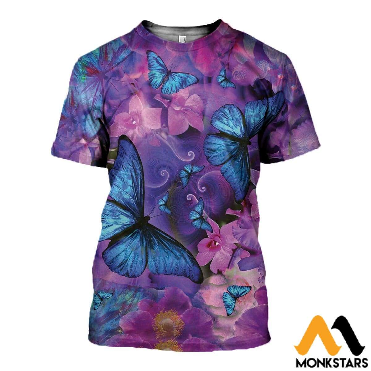 3D All Over Printed Butterflies Tops T-Shirt / Xs Clothes