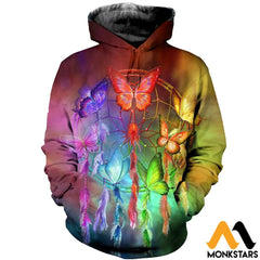 3D All Over Printed Butterfly And Dream T-Shirt Hoodie Ahdk290304 / Xs Clothes