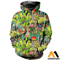 3D All Over Printed Cactus Clothes Normal Hoodie / Xs
