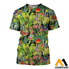 3D All Over Printed Cactus Clothes T-Shirt / Xs