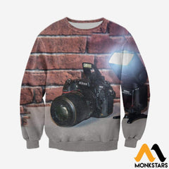 3D All Over Printed Camera Clothes Long-Sleeved Shirt / Xs