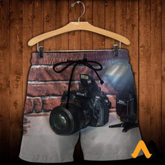 3D All Over Printed Camera Clothes Shorts / Xs