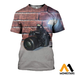 3D All Over Printed Camera Clothes T-Shirt / Xs